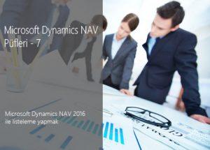 Microsoft Dynamics 365 Business Central (NAV) 2016 ile listeleme yapmak