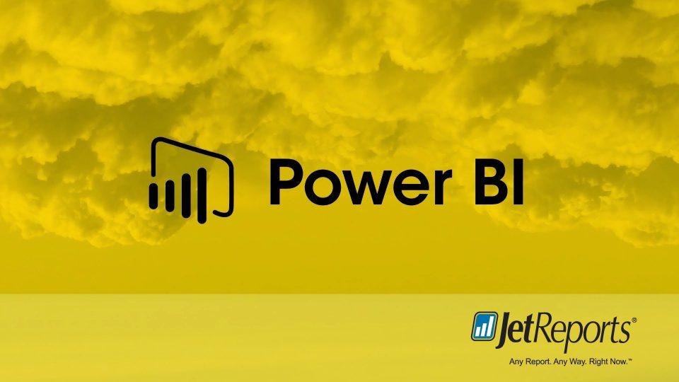 Power BI ve JetReports